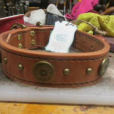 187083e37375 Shotgun Shell Hermann Oak Harness Leather Dog Collar 1 1/2