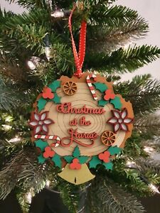 3D Personalised Christmas Wreath - Wall or Tree Decoration  Custom Gift Names