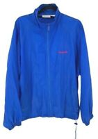 Vintage Reebok Mens Windbreaker Jacket Blue Full Zip Nylon Spellout L