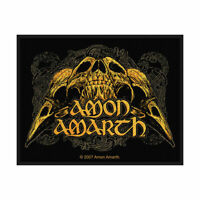 AMON AMARTH Raven Skull Woven Sew On Patch Official Licensed Band Merch