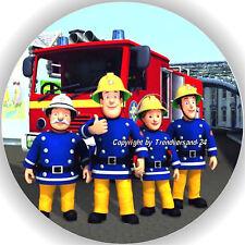 Esspapier Tortenaufleger Tortenbild Geburtstag Feuerwehrmann Sam T2  ( W )