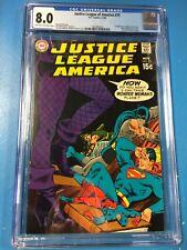 Justice League of America #75 1969 CGC 8.0 JLA 1st True Silver Age Black Canary