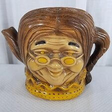Vtg 1974 Home Decor Ceramic Figural Grandma Old Lady Planter Pot Pottery