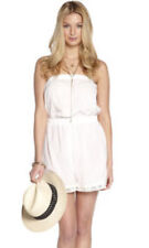 UK SIZE SMALL BRODERIE ANGLAISE PLAYSUIT by ADORE COLOUR WHITE 100% COTTON bnwt