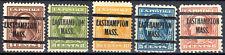 MA20-046: Washington Franklin precancels; 5 Easthampton (MA) type L-1 E