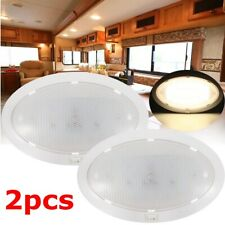 2pcs LED Roof Dome Lights Interior For Camper RV Trailer Marine Boat Warm White