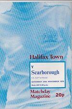 Halifax Town Home Teams Football FA Cup Fixture Programmes