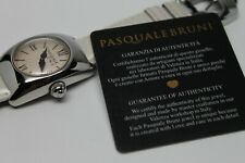 PASQUALE BRUNI STAINLESS STEEL QUARTZ WATCH CERTIFICATE OF AUTHENTICITY