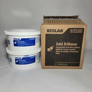 ECOLAB SOLID BRILLIANCE RINSE ADDITIVE #6125395 Brand New, 2 X 2.5lb.