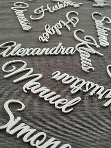 Laser Cut Place Card, Wedding Place Name Cards, Place Setting, Table Setting, L1