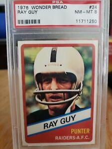 1976 WONDER BREAD #24 RAY GUY *PSA 8 GRADED mint Oakland Raiders MINT