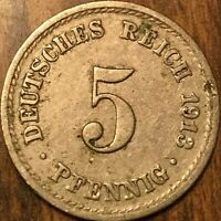 1913 GERMAN 5 PFENNIG