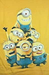 Kids Youth 100% Cotton T- Shirts Size M Minions Yellow