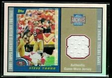 STEVE YOUNG 2002 TOPPS ARCHIVES RESERVE FOOTBALL'S REPRINT RELIC GAME JERSEY