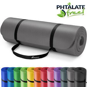 RETOURE Yogamatte Fitnessmatte Gymnastikmatte Pilates 190x100x1,5cm Grau