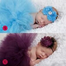 Turquoise Newborn Tutu Photo Prop with Headband