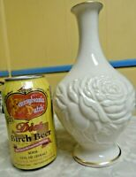 Rare Vintage Lenox Large Round Embosed Rose Bud vase