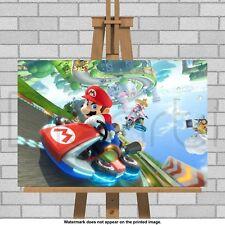 Super Mario Kart Framed Canvas Print Picture Nintendo DS Mario Bros World Luigi