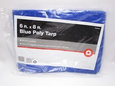 6' x 8' Blue Poly Tarp Light Duty Uv Resistant New