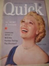 August 18 1952 QUICK News Weekly Magazine Dinah Shore cover + Butterfinger Ad