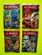4 Lego Ninjago Jay Kai Cole Zane con maschera U armi Limited Edition Polybag OVP
