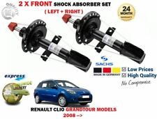 FOR RENAULT CLIO GRANDTOUR MODELS 2008-> NEW 2X FRONT SHOCK ABSORBER SHOCKER SET