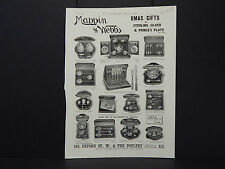 Illustrated London News Ad 08/Mappin & Webbs Xmas Gifts Silver & Plate/Dec 1892