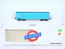 "Liliput HO 1:87 Dutch NS OPEN GOODS VAN WAGON With Side Doors ""Blue"" MIB`88"