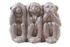 Figur 3 Affen nicht hören nicht sehen nicht sprechen Gips Skultur