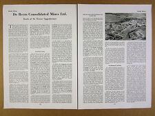 1958 De Beers Consolidated Mines Ltd Diamond Sales Outlook Activities article