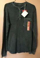 2 NWT Mossimo Supply Co. Men's Crew Long Sleeve Pullover 1 Ebony -1 Navy Small