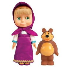 MASHA AND THE BEAR 100 PHRASES+4 SONGS.TALKING GIRL DOLL MASHA AND RUBBER MISHKA