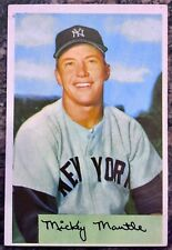 1954 Bowman #65 - Mickey Mantle - New York Yankees HOF Outfielder