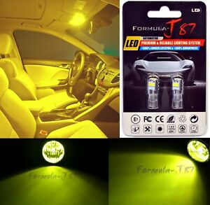 LED 3030 Light Yellow 3000K 194 Two Bulbs License Plate Replace Upgrade Philips