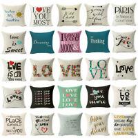 Love Sofa Pillow Case Cushion Cover Cartoon Linen Cotton Home Decor Fashion