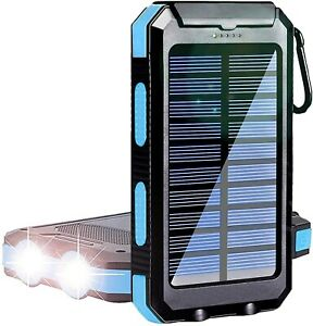 50000mAh LED Dual USB Portable Charger Solar Power Bank For android & iphone
