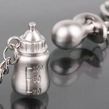 Fashion Couple Lovely Baby Pacifiers Feeding Bottle Key Chains Delicate Design d