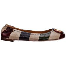Tory Burch ballet pumps women minnie 74103421 leather logo detail flats shoes