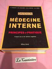 Livre Médecine Interne Principes Et Pratique Davidson Maloine 18ème Édition