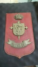 Rare WWI Spanish Navy Torpedo Gunboat RECALDE Bronze 12 x 8 in wall plaque