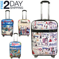 "Luggage 25"" Suitcase Trolley Wheeled Spinner Travel Set Bag Lightweight Suitcase"