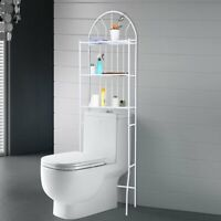 3-Tier Toilet Rack Bathroom Space Saver Metal Towel Storage Shelf Rail Organizer