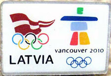 Vancouver 2010 rare LATVIA Olympic NOC Team pin