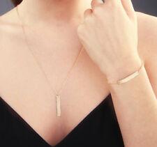 Vertical Bar Necklace / Bracelet Stainless Steel, Silver, Gold, Rose Gold
