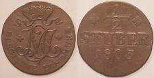 Allemagne, Berg, 1/2 Stuber 1803, TTB !!