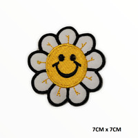 Sun Flower Disney Iron On Sew On Embroidered Patch Badge For Clothes Bags Etc