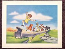 Winnie The Pooh Lithograph 1996 Vintage Cartoon Art Print Disney Adventure Book