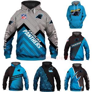Carolina Panthers Fan's Hoodies Hooded Pullover Sweatshirt Casual Jacket Coat