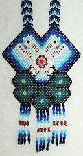 Huichol 2 Headed Eagle Peyote Beaded Necklace AAAA
