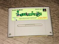 Lemmings Nintendo Super Famicom Snes Cleaned & Tested Authentic US Seller
